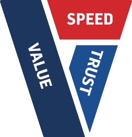 Speed, Value & Trust